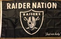 Raiders Nation Flag 3x5 Oakland Banner Football NFL Man Cave
