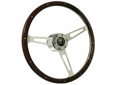1966 - 1972 Ford Bronco S6 Classic Espresso Wood Steering Wheel Kit
