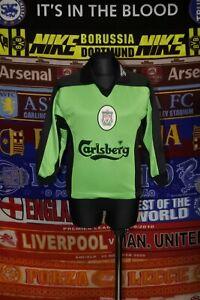 "4/5 Liverpool boys 5-6 years 22-24"" 1998 football soccer goalkeeper shirt jersey"