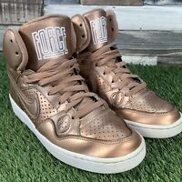UK5 Nike 'Son Of Force' Rose Gold Hi Top Trainers - Air 1 - Retro Style - EU38.5
