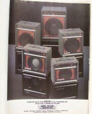 retro magazine advert 1988 CUSTOM SOUND COLT