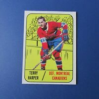 TERRY HARPER 1967-68  Topps  # 6  Montreal Canadiens 1968 1967 67-68  Near-Mint