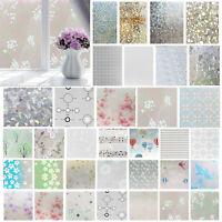 Bedroom Bathroom Home Glass Window Privacy Film Sticker PVC Frosted Window