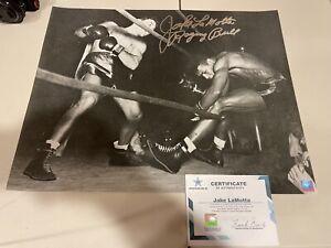 JAKE LAMOTTA Signed 16x20 Photo RAGING BULL Inscription Boxing SSG COA GTP TPA