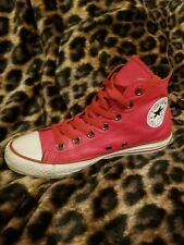 CONVERSE ALL STAR Chuck Taylor High Top RED LEATHER Unisex Shoes Sneakers punk