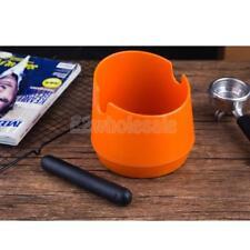 Coffee Knock Box Handle Barista Compact Anti Slip Grind Tamper Waste Orange