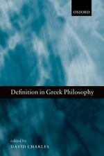 Definition in Greek Philosophy by Charles, David
