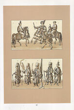 VINTAGE FASHION COSTUME PRINT ~ POLAND 1880s MILITARY COSTUMES OTTOPASCH GENERAL