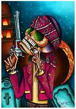 Clavo by Dave Sanchez Fine Art Print Day of  the Dead Sugar Skull Skeleton