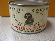 Grabill Country Meats BONELESS TURKEY 13 oz Can Be Prepared Free Shipping!