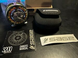 Sage 3230 Fly Fishing Reel Platinum New with box & case Free Shipping