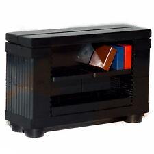 LEGO Furniture: Bookshelf (Black) - Bookcase for Minifigure Home [set,town]