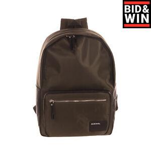 """DIESEL Backpack Large 13"""" Laptop Pocket Padded Back & Straps Zip Closure"""