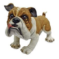 Whimsical British Bulldog Garden Sculpture Canine Statue