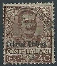1903 ERITREA USATO FLOREALE 40 CENT - ED184-2