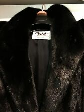 Beautiful Mink fur coat, black,  in a great condition M-L