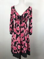 INC International Concepts Size M Pink and Black Dress