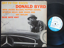 DONALD BYRD Off To The Races LP BLUE NOTE 4007 MONO Jackie McLean Wynton Kelly