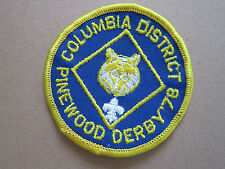 Pinewood Derby '78 Columbia BSA Woven Cloth Patch Badge Boy Scouts Scouting