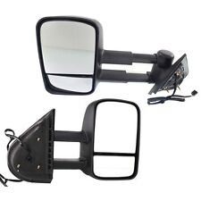 New Set of 2 Heated Mirrors Driver & Passenger Side, For Chevy Suburban, Pair