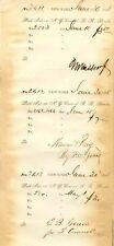 N.Y. Central R.R. Bond stub signed by Matthew Vassar Jr.