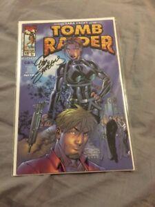 Lara Croft Tomb Raider 13 Signed By Writer Dan Jurgens Auto Autograph Nice!!!
