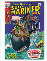 Sub-Mariner #24 Marvel Comics (1970) Roy Thomas (W) John Buscema (A) VF