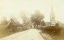 Knighton Village Thatched house & St. Mary Magdalen Church 1905
