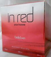 IN RED POUR HOMME ESTELLE EWEN 3.4 OZ / 100 ML EDT SPRAY  NEW IN BOX FOR MEN
