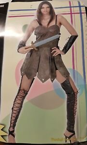 Warrior Woman Greek Roman Gladiator Centurion Ladies Fancy Dress Costume