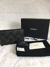 CHANEL 2017 Camellia with Black Gem Wallet on Chain WOC