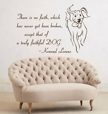 Wall Decal Quote Dog Decals Vinyl Sticker Art Mural Home Pet Shop Decor kk279