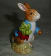 2013 Porcelain Peter Rabbit Carrying Radishes Beatrix Potter Figurine Enesco