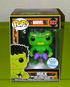 Funko POP! Marvel Black Light Hulk Funko Shop Exclusive IN HAND w/ SORTER