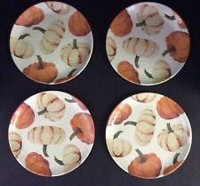 Pottery Barn Pumpkin Salad Plates Set of 4 Melamine New