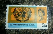 UNITED NATIONS 1965 20TH ANNIVERSARY UNUSED ROYAL STAMP MINT CONDITION