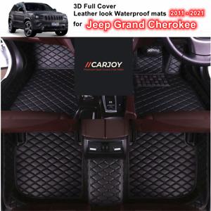 3D Cut Custom Made Waterproof Car Floor Mats fits Jeep Grand Cherokee 2011- 2021