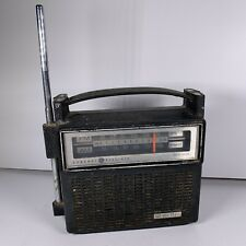 General Electric GE AM / FM Radio 7-2818F Tested Works Missing Full Antenna