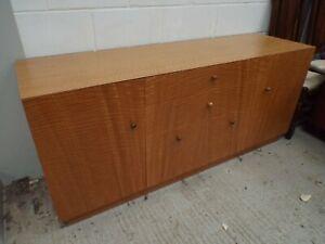 Excellent Quality Bespoke Built Satin Birch Sideboard