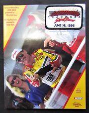 1996 UAW Teamwork 500 Program w/ Patch - Pocono Speedway - Long Pond, PA