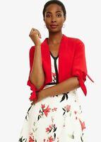 Phase Eight Claudia Tie Sleeve Jacket Carmine Size UK14 RRP120