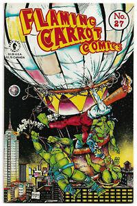FLAMING CARROT COMICS#27 VF/NM 1991 TMNT CROSSOVER AV/DARK HORSE COMICS