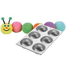 Wilton Mini Ball Mold 6 cavity Cake Pan Baseball, Sports, Ladybug, Head, bug