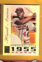 HANK AARON 2003 TOPPS TRIBUTE GAME USED BAT CARD FIRST ALL STAR ATLANTA BRAVES
