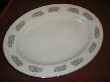 Everbrite China Rosanne Oval Platter