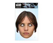 Jyn Erso Star Wars Rogue One Single 2D Card Party Face Mask Felicity Jones