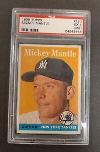 1958 TOPPS MICKEY MANTLE PSA5  (MK)