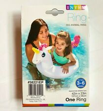 INTEX Inflatable Ring Pool Float Swimming Tube Unicorn Kids Summer Fun Toys