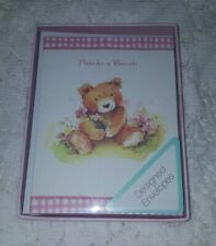 Teddy Bear Thank You Cards From American Greetings, Wedding, showers, Pink 10 ct