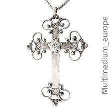 Biedermeier Silber Kreuz Anhänger antique silver cross pendant  Kette 🌺🌺🌺🌺🌺